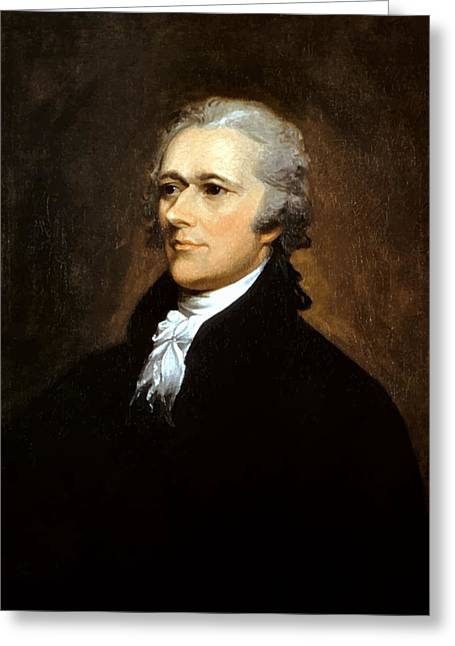Independence Greeting Cards - Alexander Hamilton Greeting Card by War Is Hell Store