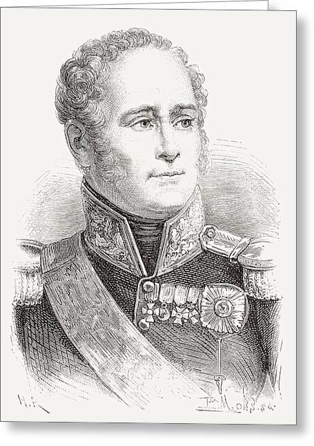 Tsar Alexander Greeting Cards - Alexander I Of Russia, 1777 Greeting Card by Ken Welsh