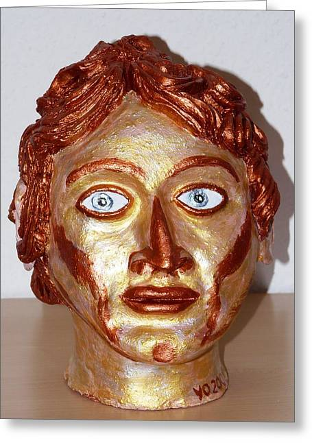 Great Sculptures Greeting Cards - Alexander the Great Greeting Card by Valerie Ornstein