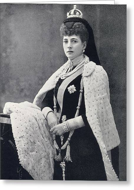 Marie-louise Greeting Cards - Alexandra Of Denmark, 1844 To 1925 Greeting Card by Vintage Design Pics