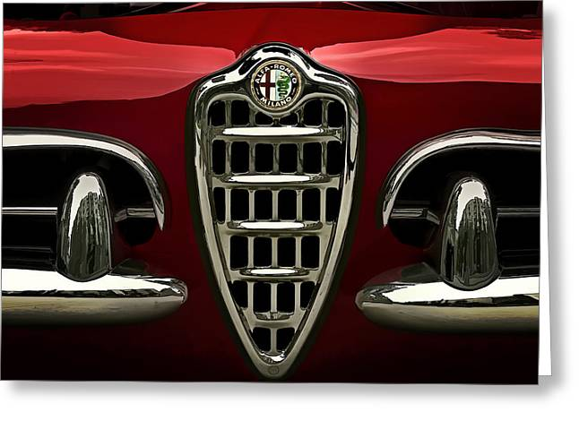 Spyder Greeting Cards - Alfa Red Greeting Card by Douglas Pittman