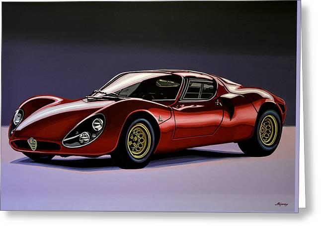 Alfa Romeo 33 Stradale 1967 Painting Greeting Card by Paul Meijering