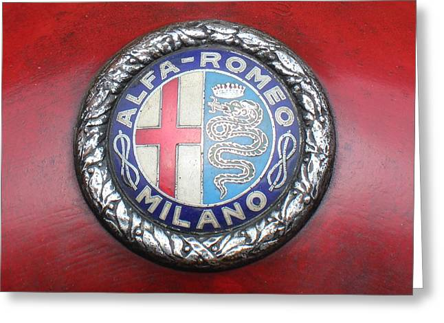 Saint Christopher Greeting Cards - Alfa Romeo 8 C Spirit Greeting Card by Robert Phelan