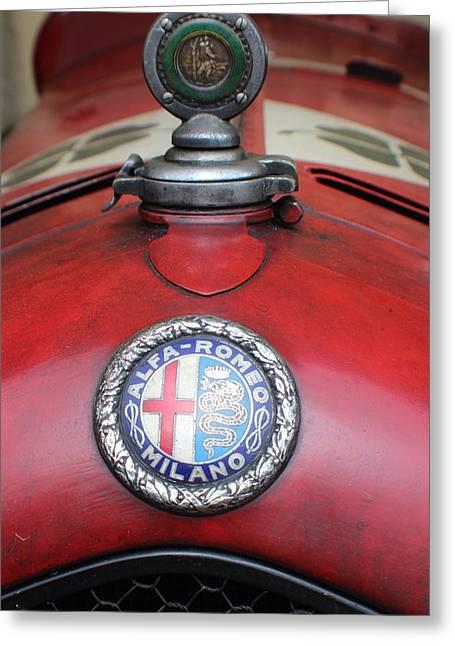 Saint Christopher Greeting Cards - Alfa Romeo 8C 2600 Muletto Greeting Card by Robert Phelan