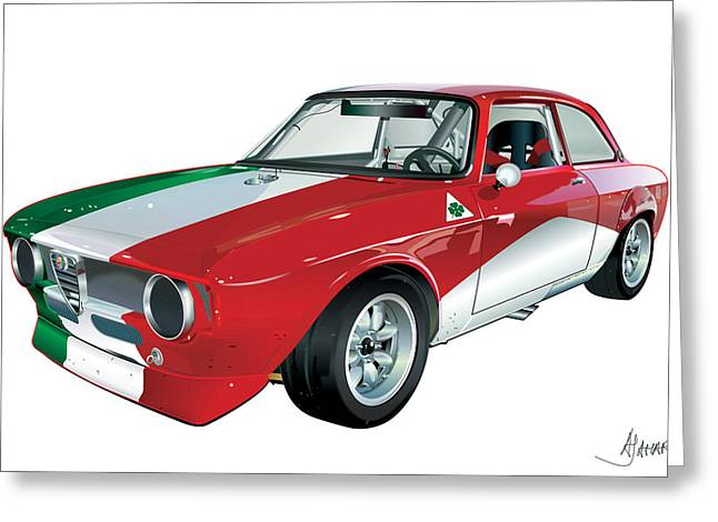 Junior Greeting Cards - Alfa Romeo GT Greeting Card by Alain Jamar