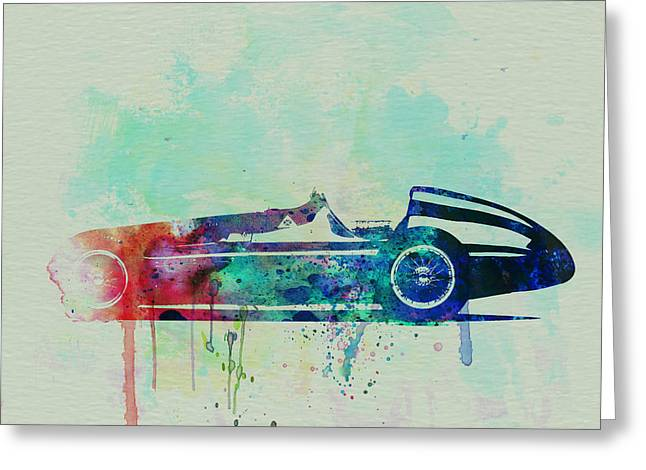 Classic Drawings Greeting Cards - Alfa Romeo Tipo Watercolor Greeting Card by Naxart Studio