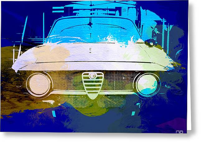 Engine Digital Greeting Cards - Alfa Romeo watercolor Greeting Card by Naxart Studio
