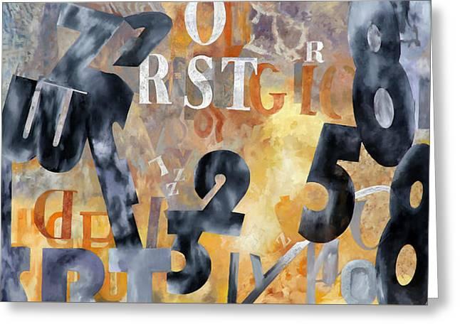 Alfabeto Giallo Nero Greeting Card by Guido Borelli