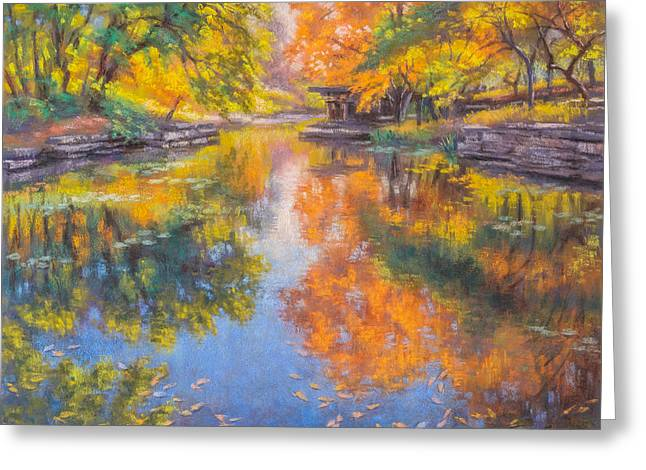 Alfred Caldwell Lily Pool 1 Greeting Card by Fiona Craig