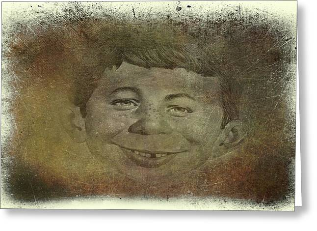 Alfred E. Neuman Greeting Card by Movie Poster Prints