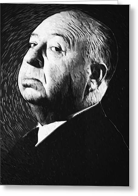 Alfred Hitchcock Greeting Card by Taylan Soyturk