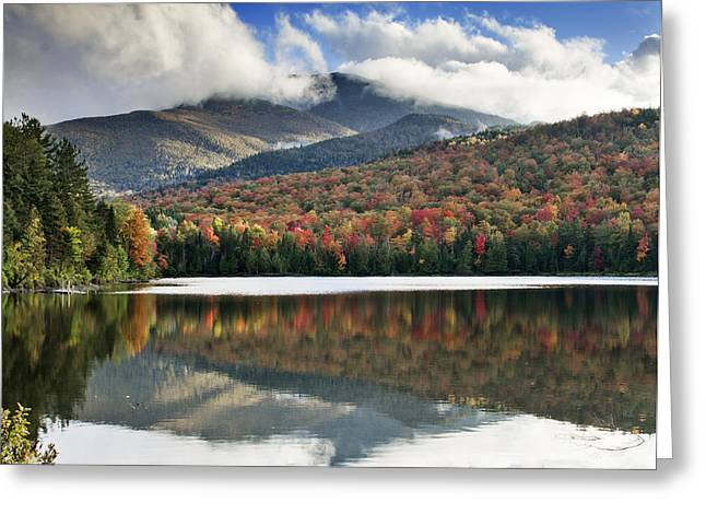 """adirondack Park"" Greeting Cards - Algonquin Peak from Heart Lake - Adirondack Park - New York Greeting Card by Brendan Reals"