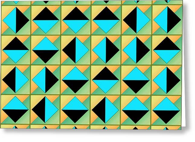 Algorithmic Greeting Cards - Algorithmic geometric art Greeting Card by Gaspar Avila