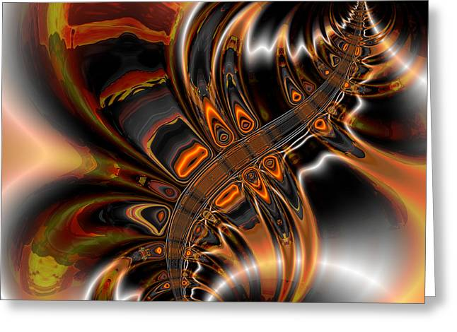 Abstract Colorful Algorithmic Digital Contemporary Greeting Cards - Algorithmic plate 135 Greeting Card by Claude McCoy