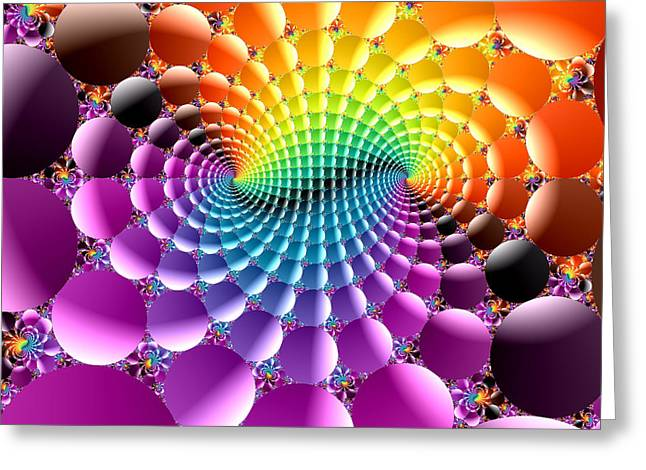 Abstract Colorful Algorithmic Digital Contemporary Greeting Cards - Algorithmic plate 199 Greeting Card by Claude McCoy