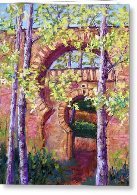 Gate Pastels Greeting Cards - Alhambra Gates Greeting Card by Candy Mayer