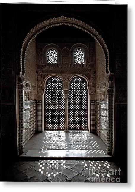 Alhambra Window Greeting Card by Jane Rix