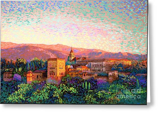 Alhambra, Grenada, Spain Greeting Card by Jane Small