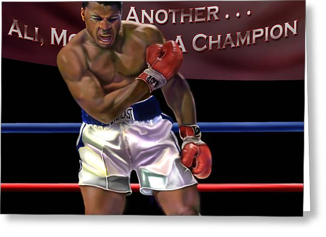 Ali - More Than A Champion Greeting Card by Reggie Duffie