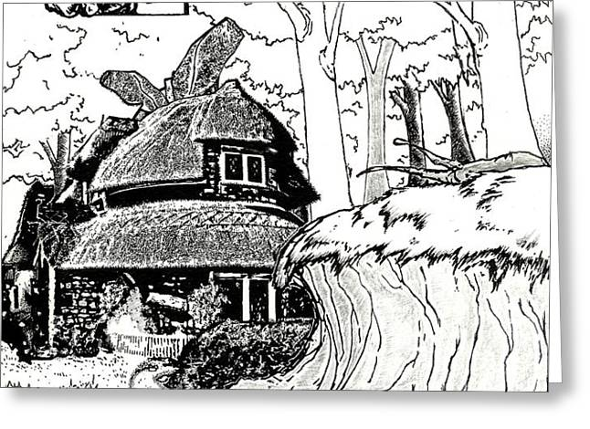 Alice at the March Hare's House Greeting Card by Keith QbNyc