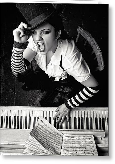 Jazz Pianist Greeting Cards - Alice Greeting Card by Helena Platonova