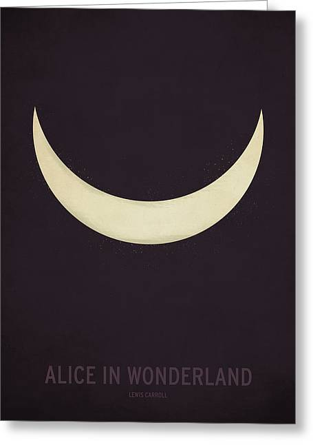 Typography Greeting Cards - Alice in Wonderland Greeting Card by Christian Jackson