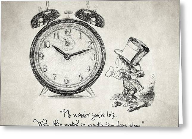 Burton Greeting Cards - Alice in Wonderland Quote Greeting Card by Taylan Soyturk