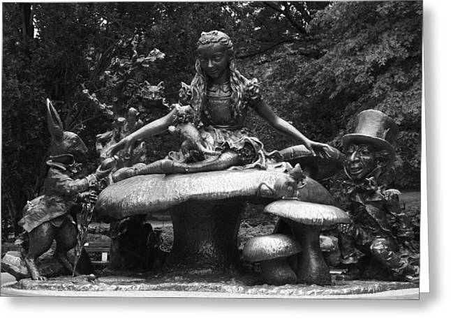 Alice in Wonderland sculpture Central Park Greeting Card by Christopher Kirby