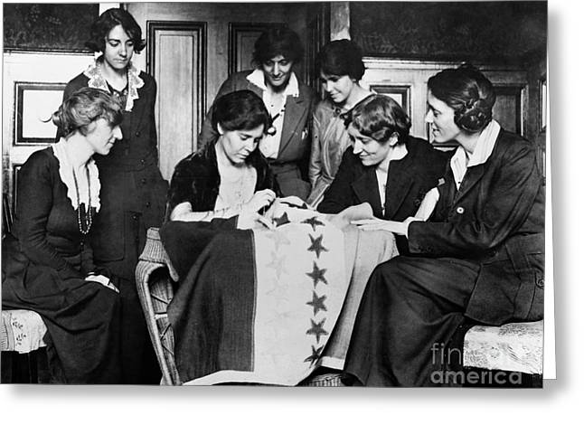 Voting Rights Greeting Cards - Alice Paul (1885-1977) Greeting Card by Granger
