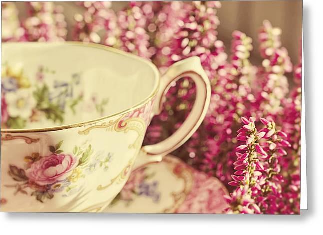 Tea Party Greeting Cards - Alices Breakfast Greeting Card by Danny Van den Groenendael