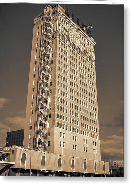 Waco Greeting Cards - ALICO Building #2 Greeting Card by Stephen Stookey