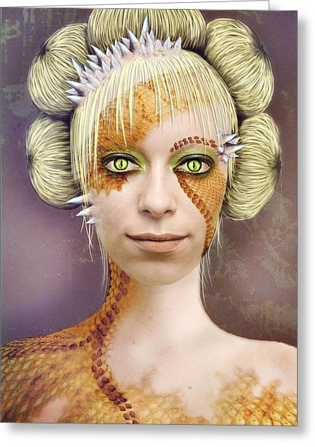 Photomanip Greeting Cards - Alien colour Greeting Card by Dominika Aniola