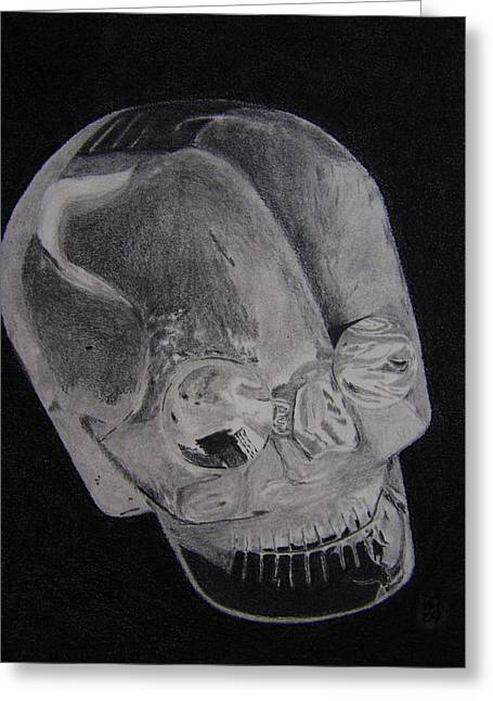 Alien Crystal Greeting Card by Nick Young