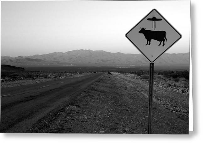 Us Open Photographs Greeting Cards - Alien Highway Greeting Card by David Lee Thompson