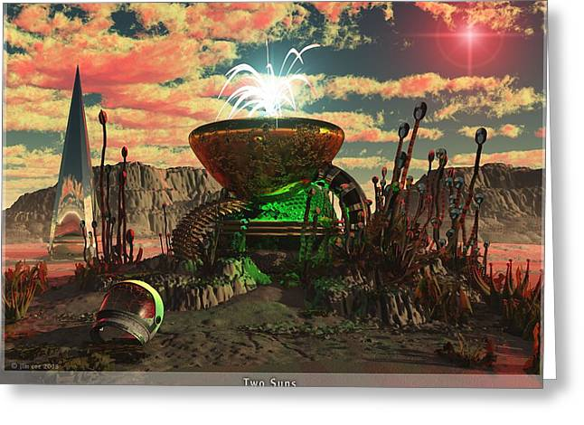 Jim Coe Greeting Cards - Alien World 2 Greeting Card by Jim Coe