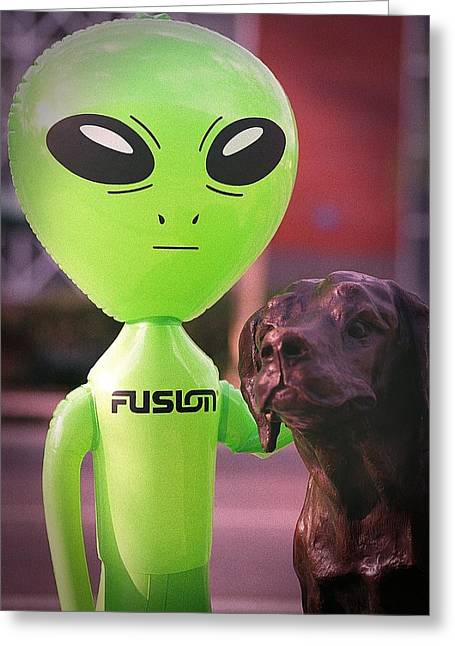 Inflatable Photographs Greeting Cards - Aliens Best Friend Greeting Card by Richard Henne