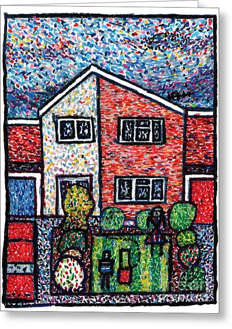 Dot Pastels Greeting Cards - Aliens mowed my Lawn Greeting Card by Andy  Mercer