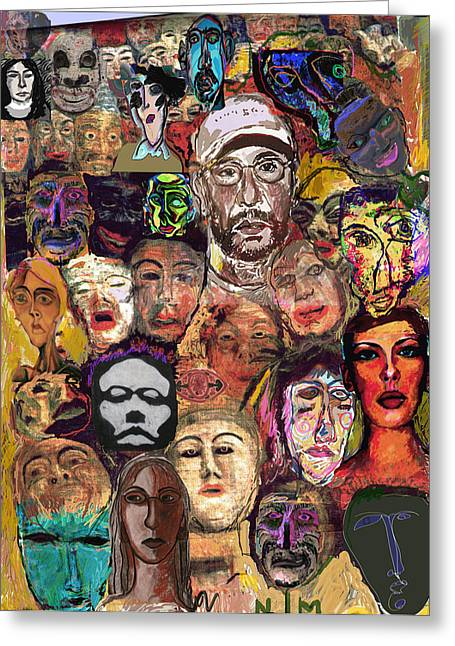 Comfort Zone Greeting Cards - All About masks Greeting Card by Noredin morgan