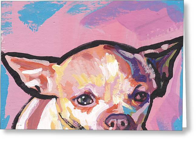 Chihuahuas Greeting Cards - All About The Chi Greeting Card by Lea