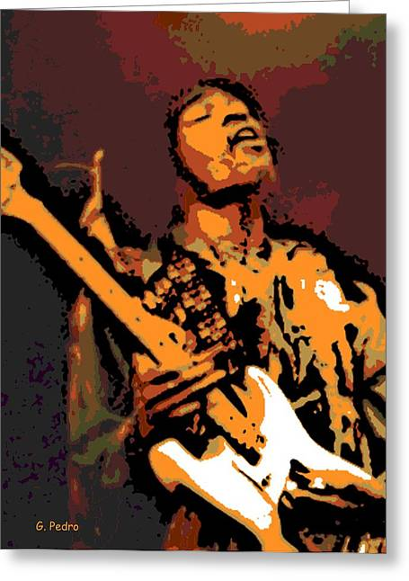 The Jimi Hendrix Experience Greeting Cards - All along the Watchtower Greeting Card by George Pedro