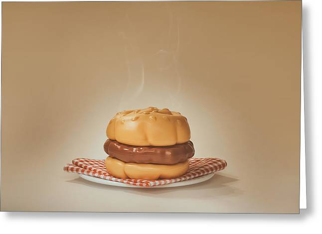 All-american Burger Greeting Card by Scott Norris