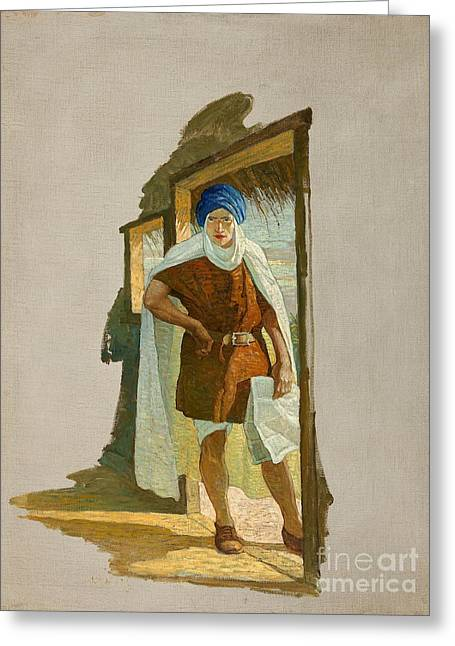 All Around Greeting Cards - All Around Magazine December 1915 by N.C. Wyeth Greeting Card by Celestial Images