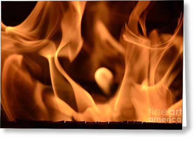 All-at845895 - Fire Cry Greeting Card by Karl Thomas