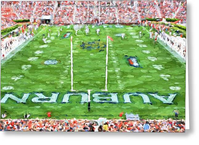 Sec Football Greeting Cards - All Auburn All Day Greeting Card by JC Findley