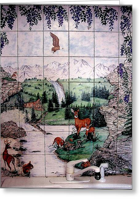 Mountain Ceramics Greeting Cards - All Creatures God Made Them All Greeting Card by Sandra Maddox