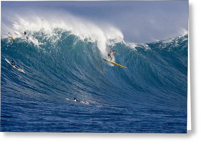 Waimea Greeting Cards - All In. Greeting Card by Sean Davey