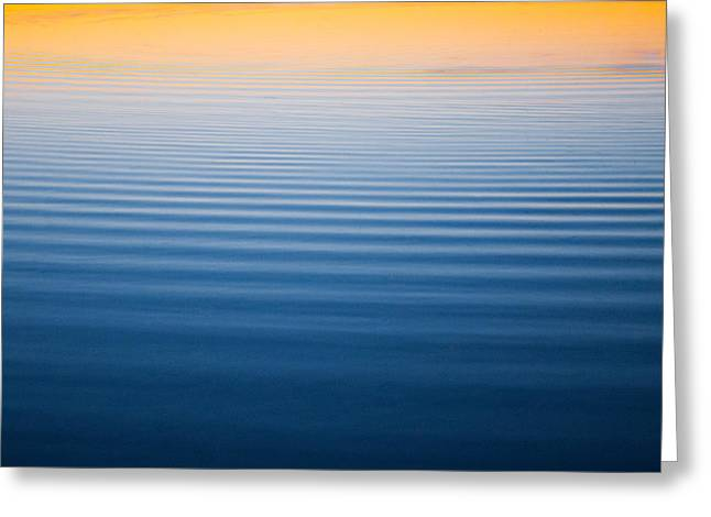 Sunset Abstract Photographs Greeting Cards - All is Calm Greeting Card by Parker Cunningham