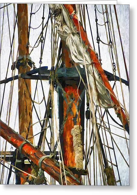 All Masts Greeting Card by Karo Evans