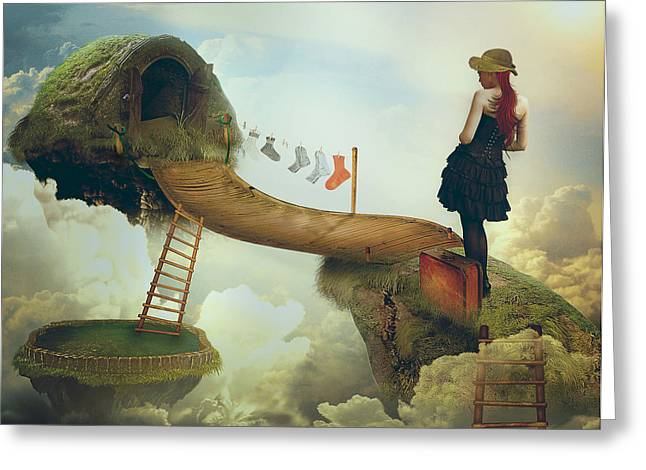 """photo Manipulation"" Greeting Cards - All Of Us Alice Greeting Card by Nataliorion"