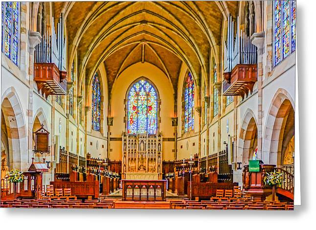 All Saints Chapel, Interior Greeting Card by Tom and Pat Cory